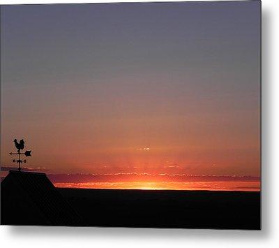 Sunrise On The Farm Metal Print