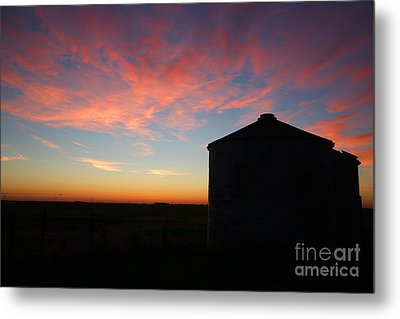 Sunrise On The Farm Metal Print