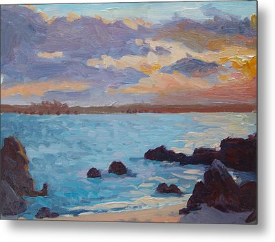 Sunrise On The Grotto Metal Print by Dianne Panarelli Miller