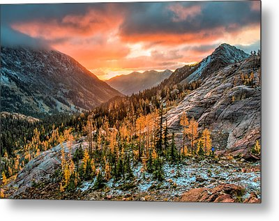 Metal Print featuring the photograph Sunrise On The Larches by Brian Bonham