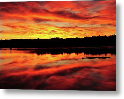 Sunrise On The New Meadows River Metal Print