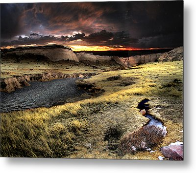Sunrise On The Pawnee Grasslands Metal Print by Ric Soulen