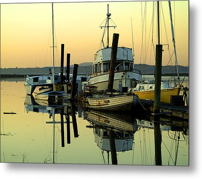 Sunrise On The Petaluma River Metal Print by Bill Gallagher