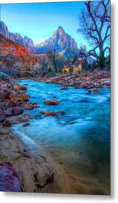 Sunrise On The Virgin River Metal Print by Laura Palmer