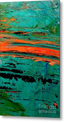 Metal Print featuring the painting Sunrise On The Water by Jacqueline McReynolds