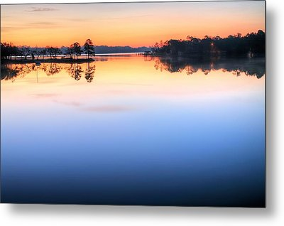 Sunrise On Toms Bayou Valparaiso Metal Print by JC Findley