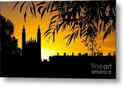 Sunrise Over Cambridge Metal Print by David Warrington