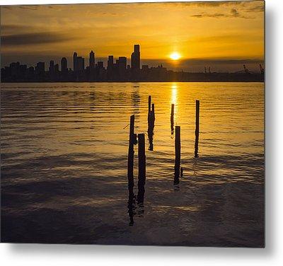 Sunrise Over Elliott Bay Metal Print