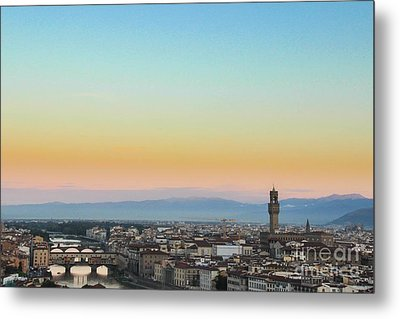 Sunrise Over Florence Metal Print by David Warrington