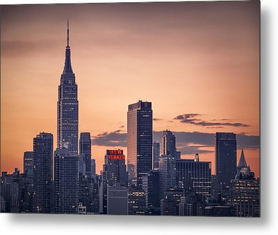 Manhattan Sunrise Metal Print