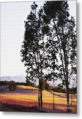 Sunrise Over Northern California Hills Metal Print by Artist and Photographer Laura Wrede