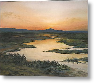 Sunrise Over Oakland Hills Metal Print by Martha J Davies