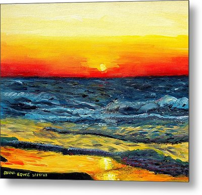 Metal Print featuring the painting Sunrise Over Paradise by Shana Rowe Jackson
