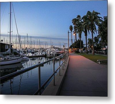 Sunrise Over Santa Barbara Marina Metal Print