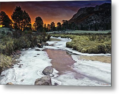 Sunrise Over Sheep Lakes Metal Print by Tom Wilbert