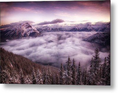 Sunrise Over The Canadian Rockies Metal Print