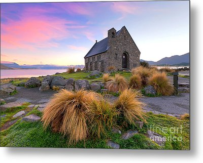 Sunrise Over The Church Of The Good Sheperd Metal Print