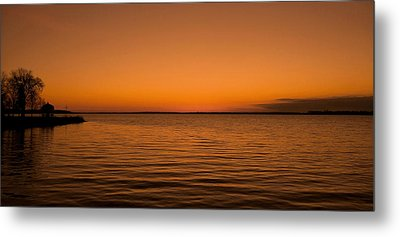 Sunrise Over The Lake Of Two Mountains - Qc Metal Print by Juergen Weiss