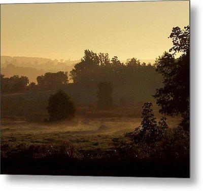 Sunrise Over The Mist Metal Print