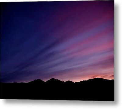 Sunrise Over The Mountains Metal Print by Rona Black