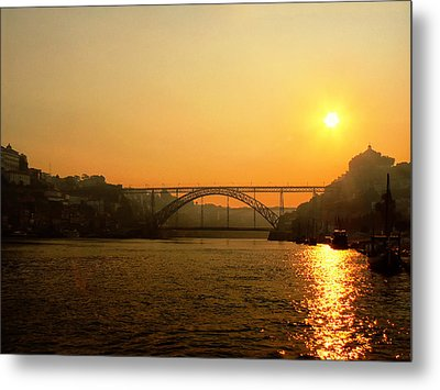 Sunrise Over The River Metal Print