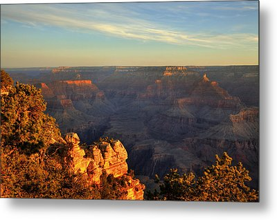 Metal Print featuring the photograph Sunrise Over Yaki Point At The Grand Canyon by Alan Vance Ley