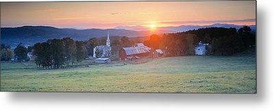 Sunrise Peacham Vt Usa Metal Print