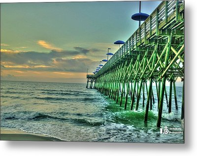 Sunrise Pier Metal Print