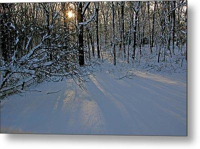Sunrise Reflected On Snow Metal Print