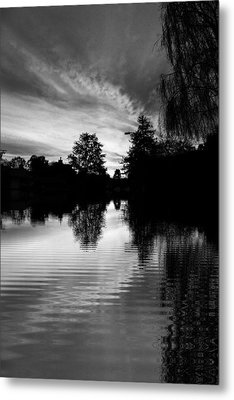 Sunrise Reflection Metal Print