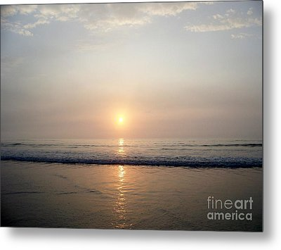 Sunrise Reflection Shines Upon The Atlantic Metal Print by Eunice Miller
