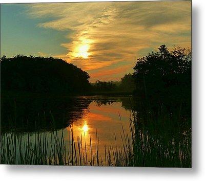 Sunrise Reflections Metal Print