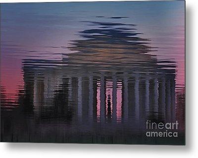 Sunrise Reflections Of The Thomas Jefferson Memorial Metal Print