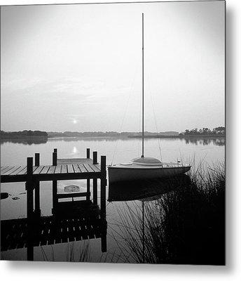 Sunrise Sail Boat Metal Print by Mike McGlothlen