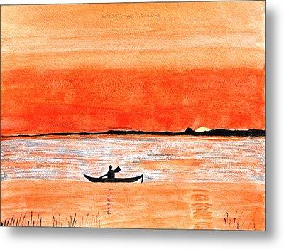 Sunrise Sail Metal Print by Sonali Gangane