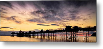 Sunrise Silhouette Metal Print by Christine Smart