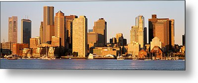 Sunrise, Skyline, Boston Metal Print by Panoramic Images