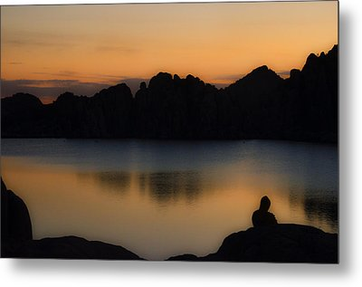 Sunrise Solitude Metal Print by Dave Dilli