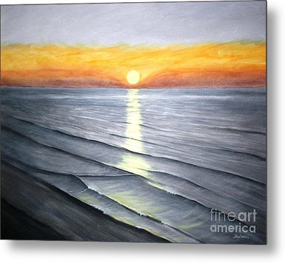 Metal Print featuring the painting Sunrise by Stacy C Bottoms