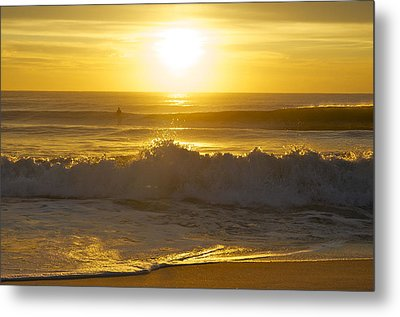 Sunrise Surf Metal Print by Greg Vizzi