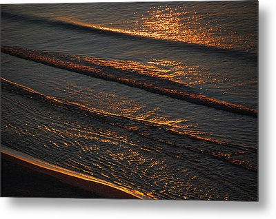 Sunrise Surf Metal Print by Sean Holmquist