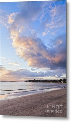 Sunrise Takapuna Beach Auckland Metal Print by Colin and Linda McKie