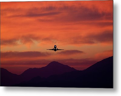 Sunrise Takeoff Metal Print by John Daly