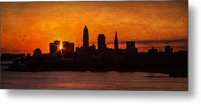 Sunrise Through The City Metal Print by Dale Kincaid