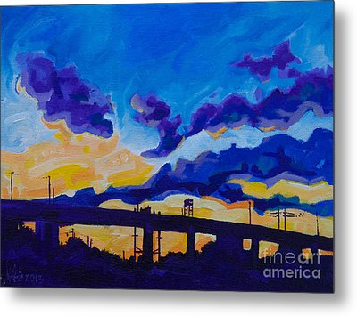 Sunrise Under The Overpass Metal Print