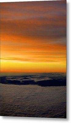 Sunrise View From Plane Metal Print