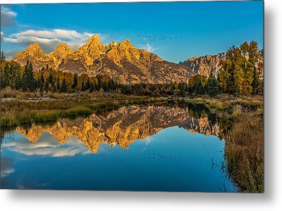 Sunrise Vision At The Grand Tetons Metal Print by Yeates Photography