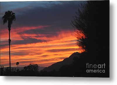 Sunrise With Lone Sentinel Over Desert Metal Print by Jay Milo