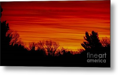 Metal Print featuring the photograph Sunrise Y-town by Angela J Wright