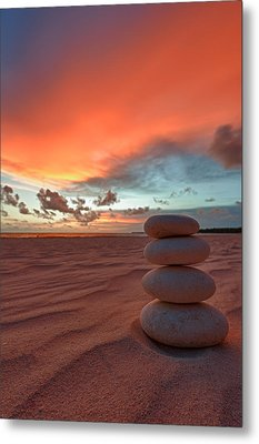 Sunrise Zen Metal Print